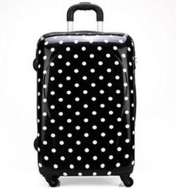 方振箱包专业定制个性圆点图案万向轮拉杆箱 行李箱 欢迎定制