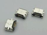 廠家貨源Micro usb 5P鍍厚金貼片母座