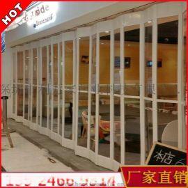 深圳订制 水晶门 水晶折叠门 电动透明卷帘门