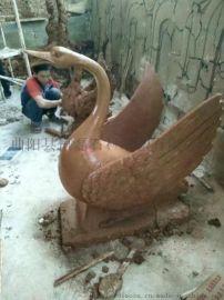曲阳恒磊雕塑厂定制玻璃钢天鹅雕塑