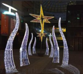 戶外led造型燈六角星拱門鐵藝/拱門裝飾場景布置