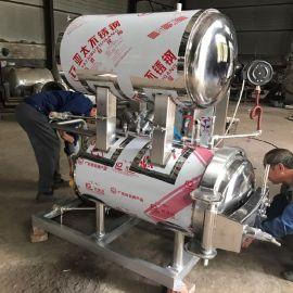 杀菌锅认准春泽机械 不锈钢双罐高温高压反压力灭菌锅