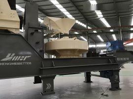 重庆河卵石移动式制砂机生产线