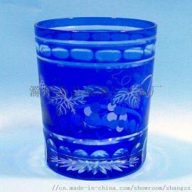 **雕刻玻璃口杯,刻花玻璃礼品杯