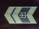 广州地铁专用地面疏散标识,带出字不锈钢箭头地标