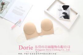 东莞厂家生产(深U侧翼) 女士性感聚拢隐形内衣