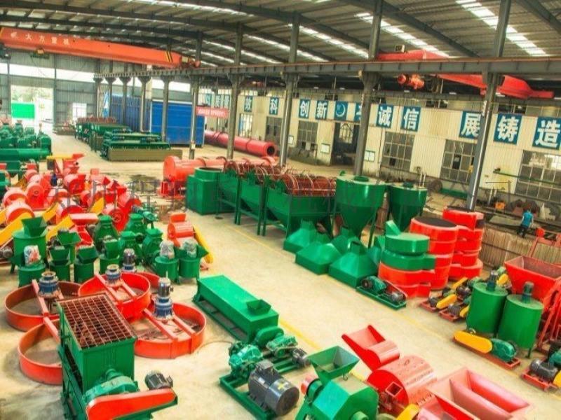 河南郑州猪粪有机肥设备工业流程