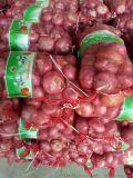 专业生产9公斤装pe平织圆丝红色洋葱网袋