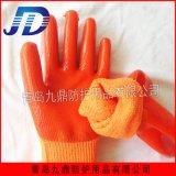 厂家直销九鼎建筑业保暖防寒PVC浸胶毛圈手套耐油耐酸碱劳动防护