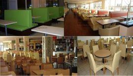 【快餐桌椅-卡座沙发-快餐家具-餐饮家具-食堂餐桌椅】-大型快餐连锁桌椅定制厂家