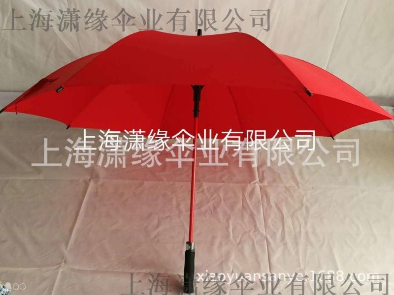 定制彩色玻璃纤维高尔夫伞、彩纤骨直杆防风自动晴雨伞