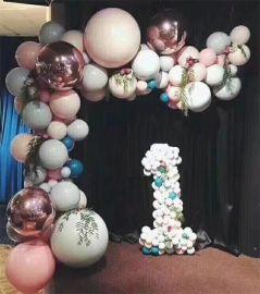 昆明花語花香婚禮氣球裝飾婚房氣球裝飾寶寶宴氣球布置