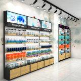 化妆品货架铁质化妆品展示架烤漆靠墙背柜