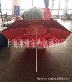 批发定制户外沙滩玻纤伞骨遮阳伞、加印广告logo加强抗风海边伞