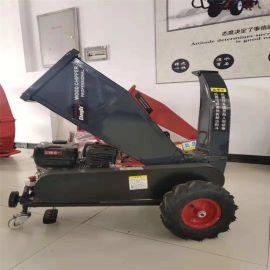 顺阳15HP 碎枝机操作简单汽油动力碎枝机 单人操作园林树枝树皮粉碎机 农田粉碎机