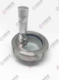 巨捷机械304 不锈钢带灯视镜 卫生级活接电池视镜 电筒活接视镜