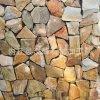 厂家直销 粉 绿 锈石英乱形 不规则片石 乱形石 别墅小区地面碎拼