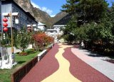 胶粘石透水石地坪彩色自然石排水路面专用AB胶水桓石厂价直