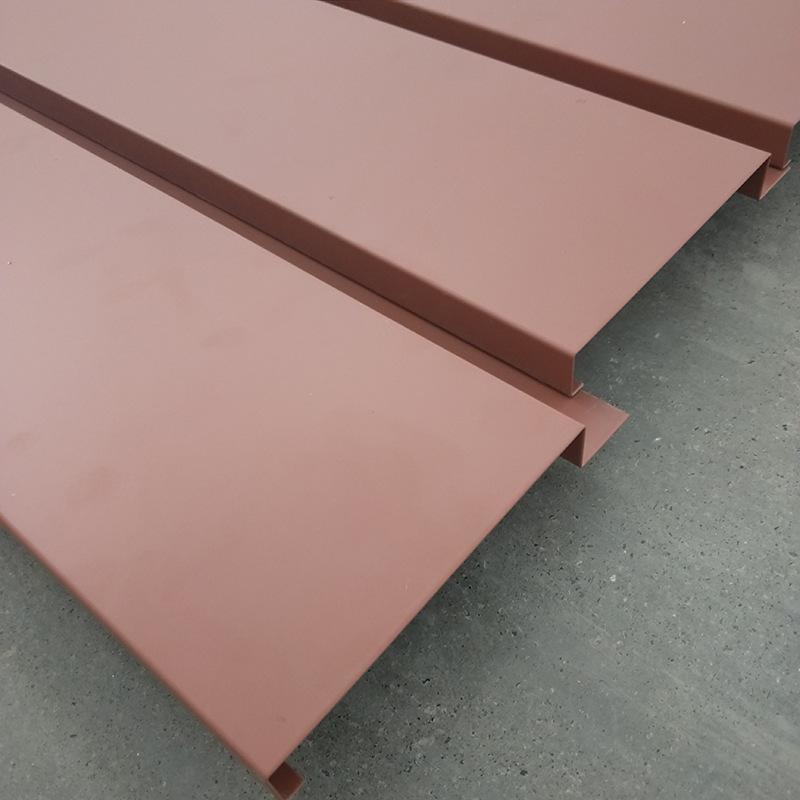 面寬130G型鋁條扣 鋁合金條扣板天花吊頂 長條形鋁扣板天花