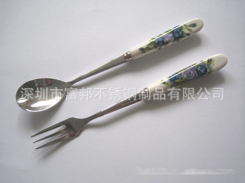 陶瓷柄勺叉, 骨瓷勺叉(多種花色任選)