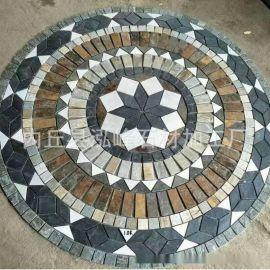 厂家提供 加厚青石材 锈色青石材 地面碎拼青石材