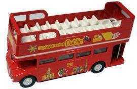 定制加工1-72合金压铸敞篷双层巴士玩具模型巴士公交车玩具车生产厂家