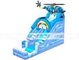 海 航空兵直升飞机充气水滑梯