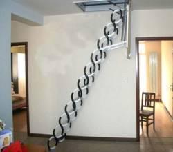 新疆电动伸缩楼梯,中小户型专用