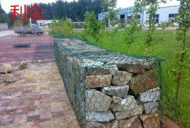 海漫海岸护坡护底石笼网 河道沟渠生态治理铅丝石笼 5%锌铝合金包塑石笼网挡墙