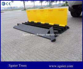 三线槽橡胶减速带 线槽减速板 室内过线槽 舞台铺线板 防撞条