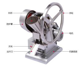 小型中药压片机、粉末单冲压片机、电动手摇两用压片机(厂家直销,质量保证)