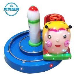 儿童游乐园专用轨道小火车 投币摇摆车 电瓶咪咪碰碰车