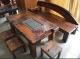 老船木咖啡桌子店舖實木茶几中式茶桌傢俱