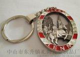厂家批发椭圆型上色金属钥匙扣 赠送小礼品