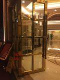 定製批發酒店不鏽鋼玫瑰金地彈大門