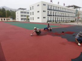 青岛塑胶篮球场施工