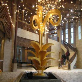 国际酒店室内金属异形工艺品摆件  室内不锈钢异型装饰件