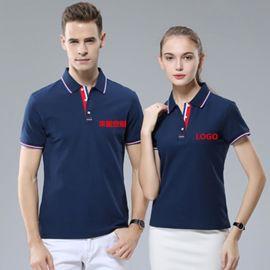 夏季工作服男女广告文化polo衫工衣装短袖翻领T恤