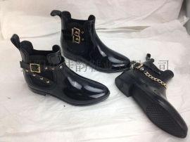 揭阳厂家供应2015新款时尚女士低筒雨靴