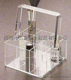 带提手,透明有机玻璃化妆品分类盒,化妆工具收纳盒