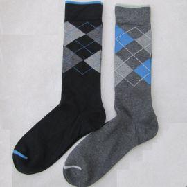 高尔夫袜子  纯棉男袜  格子休闲男袜