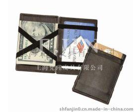 上海定做魔术名片夹 仿皮名片包