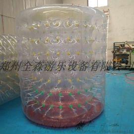全森qs-07现货直销公园水上滚筒 充气水上乐园