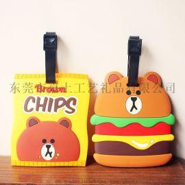 厂家定制 韩国布朗熊卡套 薯片汉堡卡套 独特