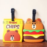 廠家定制 韓國布朗熊卡套 薯片漢堡卡套 獨特