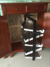 360度旋转鞋架厂家定制家具新款五金金属配件配有柜子缓冲导轨