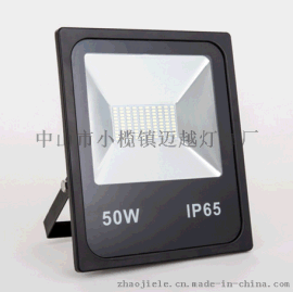 厂家直销高性价比50W黑色广告灯 贴片50W泛光灯 足瓦高亮度黑色一体款泛光灯