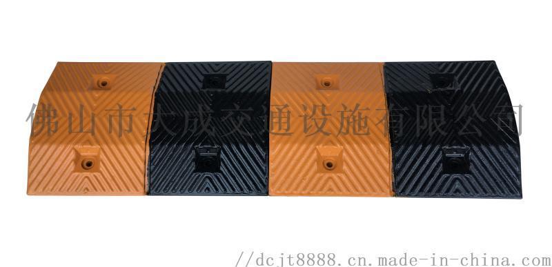 廠家製造抗壓公路條紋橡膠PVC人形減速帶