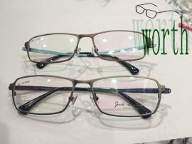 时尚男士钛板变色眼镜 新款光学镜架金属眼睛框 近视眼镜架配镜