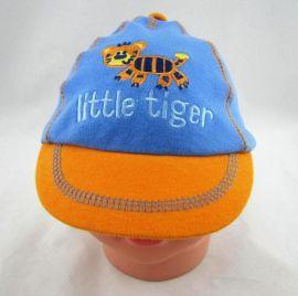 春秋婴儿全棉针织鸭舌帽 刺绣软沿卡通帽子婴幼儿宝宝小童帽子